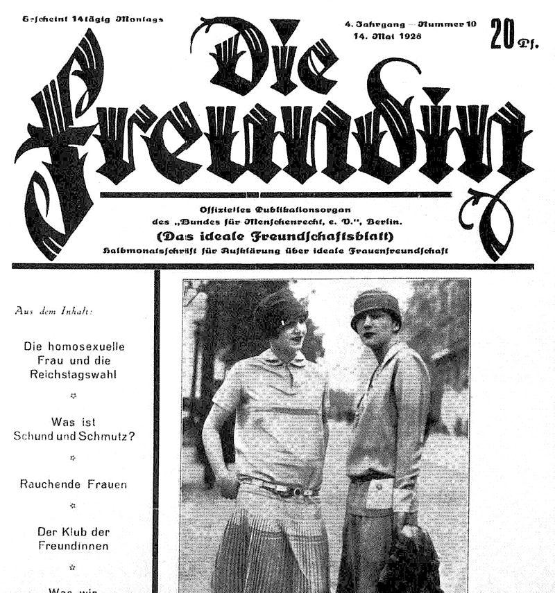 Lesbisches Magazin 1928