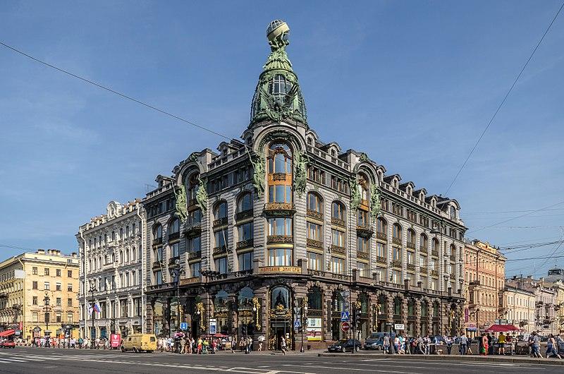 Das historische Singer-Haus in St. Petersburg ist Firmensitz von vk.com