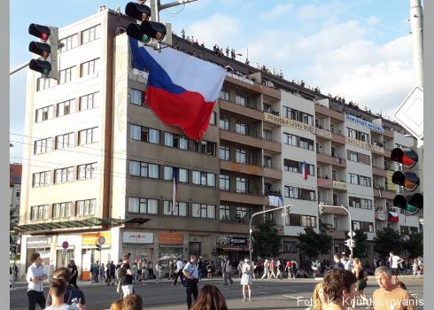 Dieses Gebäude wurde kurzzeitig von den Demonstranten besetzt.