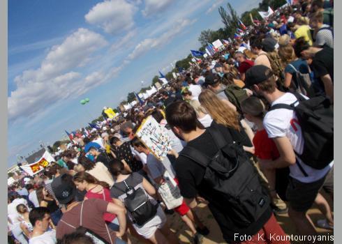 Mehr als 250.000 Menschen fanden sich am 23.06.2019 am Letenská pláň ein.
